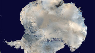 Antarctica is Earth's fifth largest continent. Credits: NASA